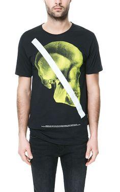 T-SHIRT CAVEIRA FLÚOR - T-shirts - Homem - ZARA Portugal