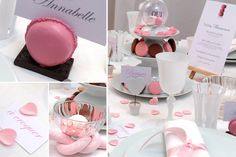 Mariage Macaron - Décorations d'ambiance table mariage