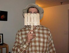 Throwback to the '90s! This is such a clever costume that's really easy and affordable to make. Just a warning: the redditor who made this said he ended up giving advice all night. What you need to do: Get popsicle sticks to make the fence, beige floppy hat, and a brown plaid shirt.  Source: Reddit  user d1woodbury via Imgur