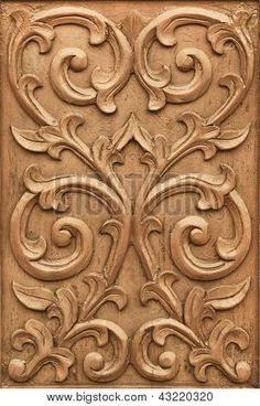Pattern of flower carved on wood background mural Wood Carving Designs, Wood Carving Art, Wood Art, Leather Tooling Patterns, Rough Wood, Chip Carving, Woodworking For Kids, Teds Woodworking, Wood Background