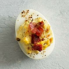 Suzanne Overklift Vaupel Kleijn: Bacon and Blue Cheese Deviled Eggs