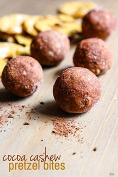 Cocoa Cashew Pretzel Gluten Free Energy Bites! A sweet and salty combo that takes snacking to a whole new level! Dark Cocoa, Cashews,…