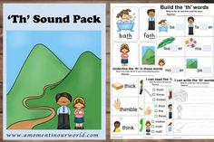 This Th Sound Pack is a great way to encourage learning about the 'th' sound.