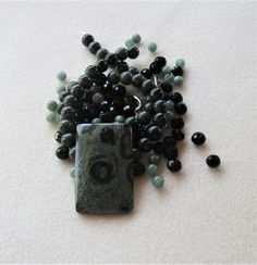 Kambaba Jasper and Beads, Jade and Glass, DIY Jewelry Kit, Gemstone Beads, Jewelry Making Diy Jewelry Kit, Jewelry Making Beads, Unique Jewelry, Jade Beads, Gemstone Beads, Crimp Beads, Bead Kits, Ceramic Beads, Acrylic Beads
