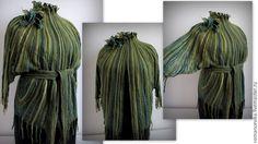 """Жакет """"Таинственные джунгли"""" - купить или заказать в интернет-магазине на Ярмарке Мастеров - 4DTZ9RU. Мариуполь   Валяный жакет. Для создания использованы шелковое…"""