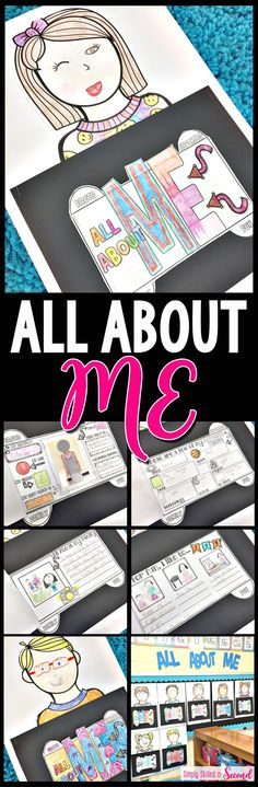 This All About Me Project is PERFECT for Back to School time. The kiddos LOVE illustrating the clipart to look like themselves and it makes an adorable bulletin board display. Check it out!
