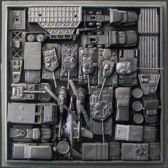 John Robertson High Relief Assemblage Art