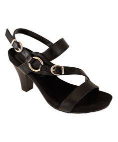 Look what I found on #zulily! Black Buckle Mina Sandal by Lena Luisa #zulilyfinds