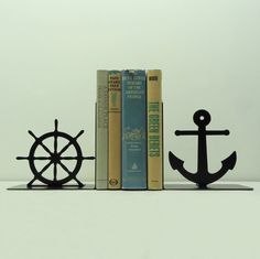 Nautical Metal Art Bookends  Free USA by KnobCreekMetalArts, $62.99