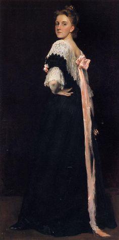 William Merritt Chase (American artist, 1849-1916) Lydia Field Ammet 1892
