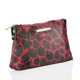 Clutch Bag in Red/Black Giraffe Print Calf Hair | Vancliffe Dean