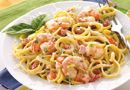 Shrimp and Linguine - The Pampered Chef® Who said light entrées have to lack flavor? This classy pasta dish will wow family and dinner guests alike.