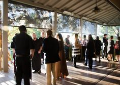 Appetizer reception at the Vineyard House before Frogtoberfest dinner in the Red Barn.