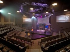 Westside Christian Church Youth room's projectors, lights, and speakers provided and installed by Custom Sound Designs