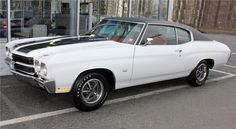 Lot Number: 378.1    Auction: PALM BEACH 2012  Status: SOLD  Sale Type: NO RESERVE  Price:*$39,600.00  Year: 1970  Make: CHEVROLET  Model: CHEVELLE SS 396  Style: COUPE  VIN: 136370A106723  Exterior Color: WHITE  Interior Color: RED  Cylinders: 8  Engine Size: 396  Transmission: 4-SPEED AUTOMATIC
