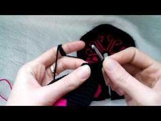 Baştan Sona Kalpli Tunus İşi Patik Modeli(Örgü Modeli) - YouTube