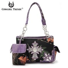 Cowgirl Trendy Concealed Carry Camo Rhinestone Cross Bag – Handbag-Addict.com