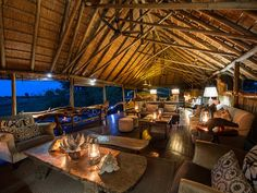 Set in one of the most densely populated wildlife areas of the eastern Okavango Delta, Chitabe Camp (from about $900 per person per night) has eight elevated tents connected by meandering raised wood walkways (don't be surprised to round a corner and encounter an elephant) and indoor-outdoor showers. Spaciousness stands in for gilded luxury here, with simple rattan chairs on wide viewing decks, ample dressing and lounging areas, and contemporary wildlife prints hung on canvas walls. The draw…