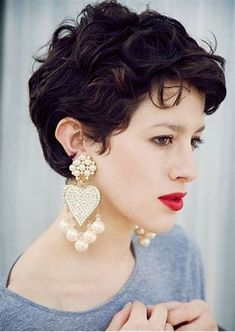 The best collection of Great Curly Pixie Hair, Pixie cuts, Latest and short curly pixie haircuts, Curly pixie cuts pixie hair Short Curly Pixie, Curly Pixie Cuts, Thin Hair Cuts, Thick Curly Hair, Messy Pixie, Long Curly, Curly Bob, Short Curly Hairstyles For Women, Haircuts For Curly Hair