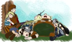 by astridthevalkyrie < Hiccup, Astrid, Snotlout, Ruffnut, Fishlegs, and Tuffnut. :)