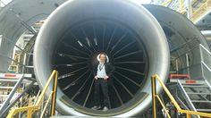 At British Airways Maintenance Cardiff. Engine belongs to a Boeing 777-200.
