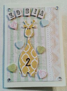 Kartka na 2-gie urodziny