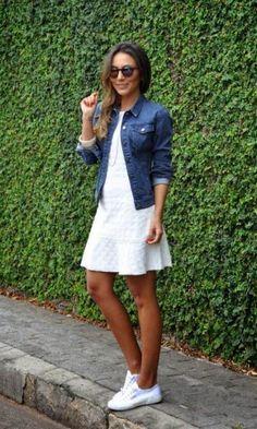 Look: Lala Noleto - Vestido + Jaqueta Jeans