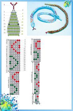 Плетем символ наступающего года. Змея из бисера своими руками