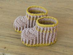 Baby Ribbed Booties Crochet Pattern for boy or by patternslibrary, $4.50
