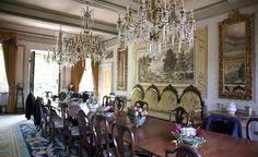 Main Dining Room Villa Michaela #tuscany #tuscanvilla #italianvilla #lucca #interiordesign #frescoes