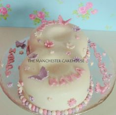 Number 8 butterfly pastle cake from The Manchester Cakehouse!