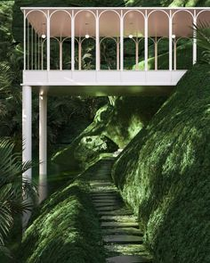 glimpse into the overgrown environments envisioned by paul milinski