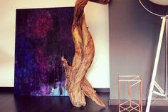 120 cm x 100 cm Öl Violet Waves abstract