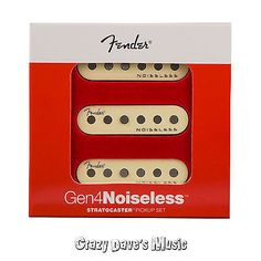 musical instruments: Fender Gen 4 Noiseless Stratocaster Strat Pickups Set New! -> BUY IT NOW ONLY: $134.99 on eBay!