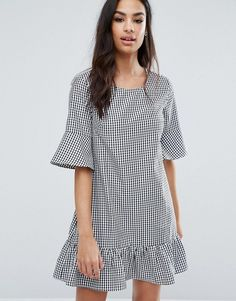 Loving this fresh take on gingham for work