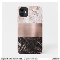 Shop Elegant Marble Rose Gold Foil Color Block Case-Mate iPhone Case created by ovenbirddesigns. Pretty Iphone Cases, Pink Phone Cases, Iphone Phone Cases, Iphone 11, Rose Gold Marble, Rose Gold Foil, Rose Gold Highlights, Iphone Accessories, Apple Products