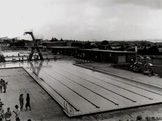 View of Top Ryde Swimming Pool, Victoria Road, Ryde, NSW in 1961.