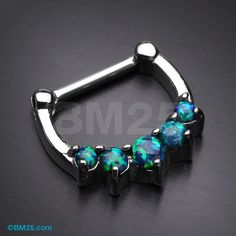 Fire Opal Glistening Laia Steel Septum Clicker