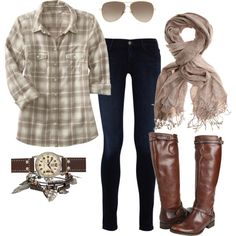 Ideas for plaid shirts that are not cute alone.