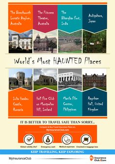 World's Most HAUNTED Places. It is better to travel safe than sorry... Keep Travelling, Keep Exploring http://www.myinsuranceclub.com/travel-insurance #travelinsurance #travelblogger #wanderlust