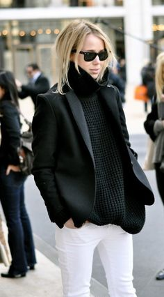 LOVE. Chic and simple. My best. Incorporando el blanco al invierno!