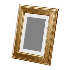 IKEA - VIRSERUM, Frame, gold, , PH-neutral mat; will not discolor the picture.You can hang the frame on a wall or stand it on a table.The frame can be used horizontally or vertically, whichever suits you or your picture best.You can enhance and add depth to your picture by using the accompanying mount when you frame it.