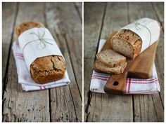 Dinkelbrot selber machen DIY Bread Bun, Pampered Chef, Baking Recipes, Banana Bread, Low Carb, Recipies, Food And Drink, Snacks, Cooking