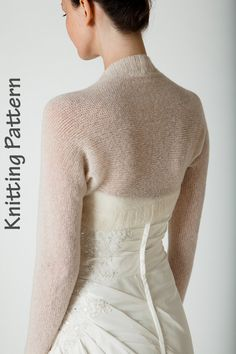 d1e4708d4e56d7 Knitting Pattern Bolero knitted in one piece for 3 kinds of wool: mohair,  cashmere, angora, knit your own wedding jacket