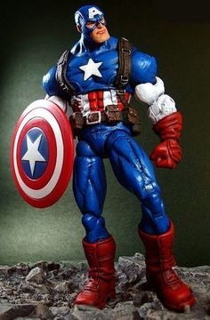 Captain America Action Figure  (Olivetti, Marvel Legends)