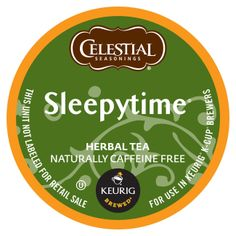 Celestial Seasonings Sleepytime Tea - Item # GMT14739 - Sleepytime Herbal Tea K-Cup Portion Pack; Comforting blend of chamomile and spearmint; Individually packed in K-Cup Portion Pack to lock in freshness and flavor; 24/Box www.rudolphsupply.com