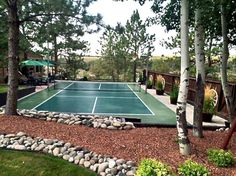 #snapsports #backyard #pickleball court for all your sports. #montana nights are family fun. Www.snapsportsmt.com