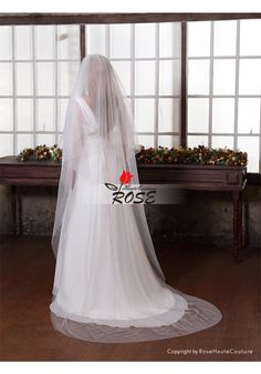 Sheer Wedding Veil Bridal Veil Two Layer Veil Tulle Veil with Comb Style BV101 - Wedding Veil