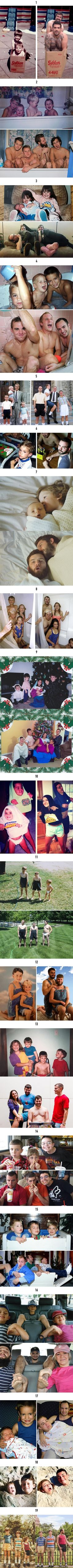Siblings masterfully recreate their childhood photos