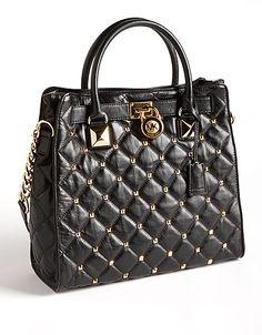 Hamilton Studded Leather Tote Bag